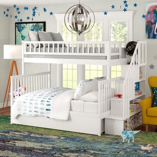 Shyann Staircase Twin Over Full Bunk Bed with Trundle by Viv  Rae