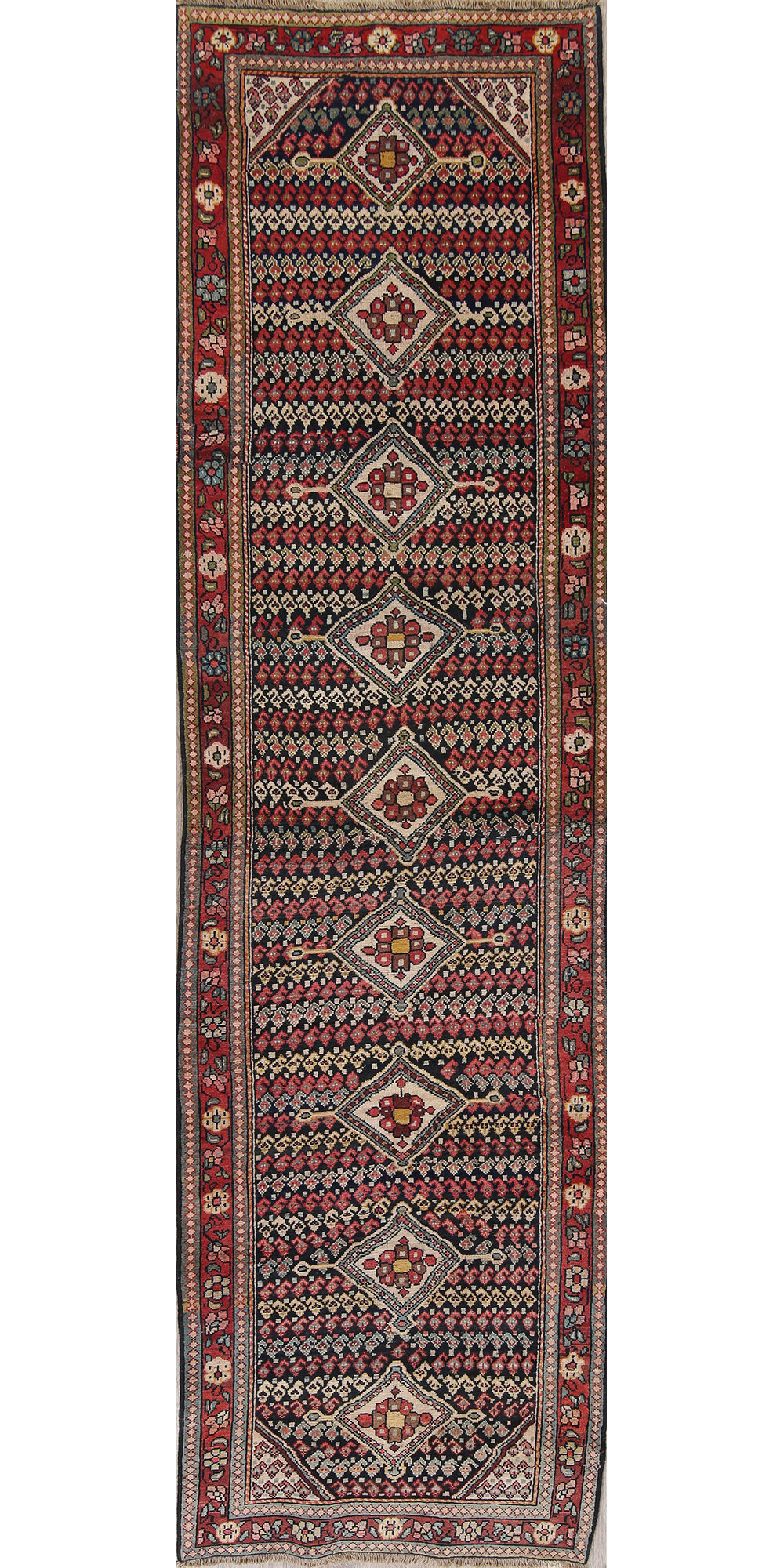 Pre Qualify Credit Card Bad Credit >> Rugsource Antique Geometric 12 Ft Long Runner Sultanabad ...