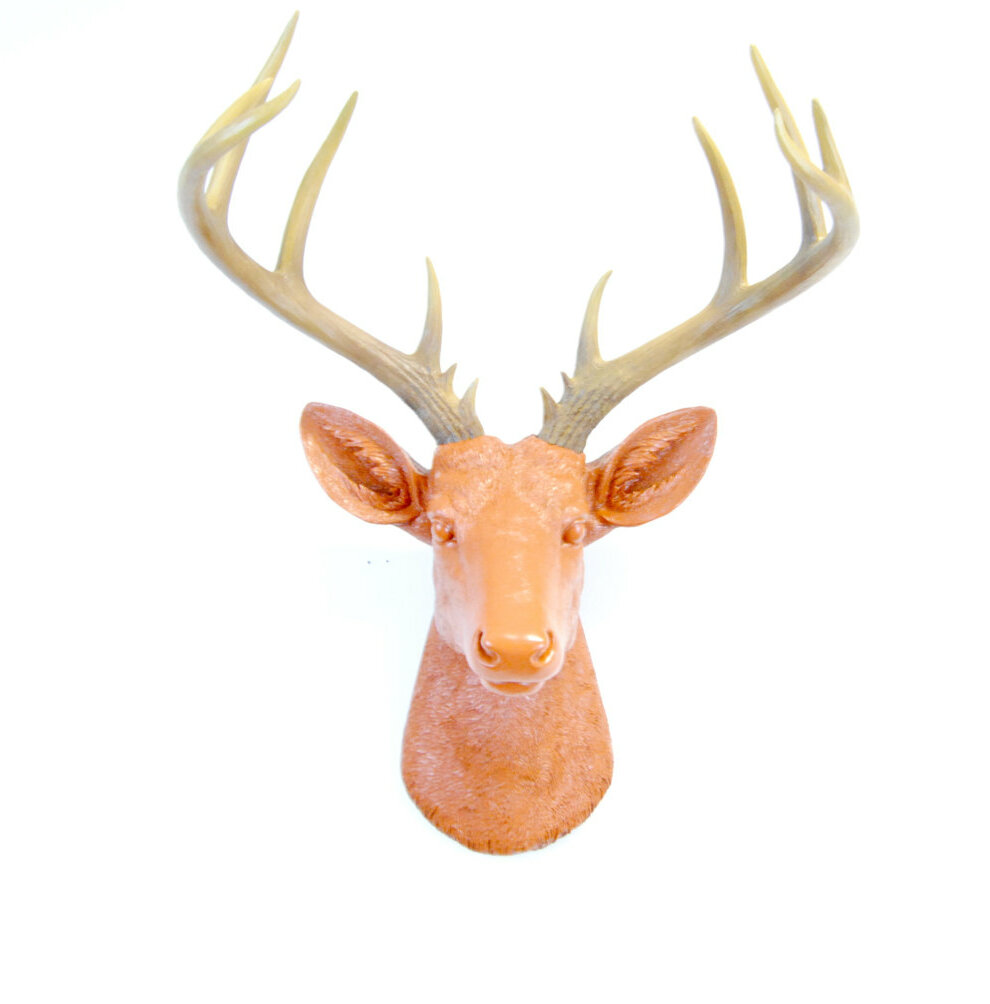 Large Deer Head Faux Taxidermy Wall