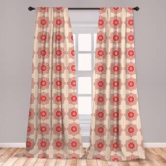 Darby Home Co Haughton Polka Dots Semi Sheer Rod Pocket Single Curtain Panel Wayfair