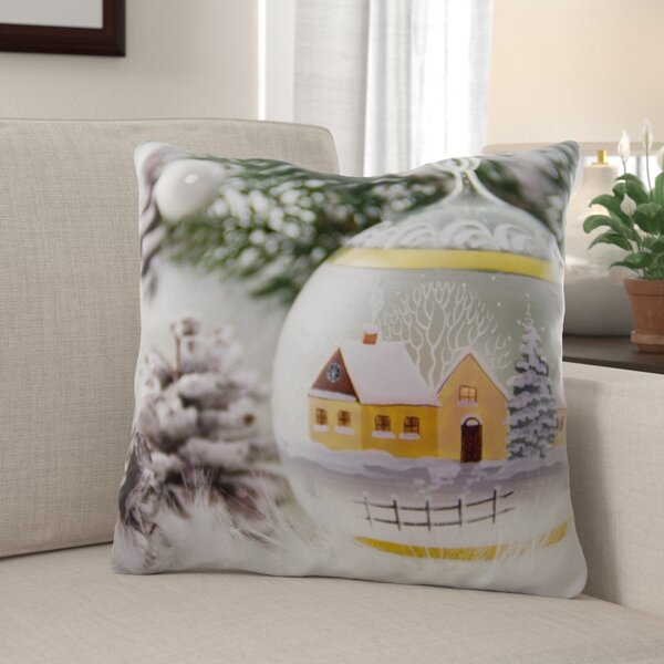The Holiday Aisle Rawley Christmas Indoor Outdoor Canvas Throw Pillow Wayfair