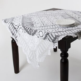 Charmant Round Lace Table Toppers | Wayfair