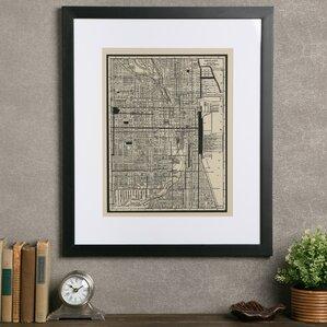 World Map Framed Art Youu0027ll Love | Wayfair