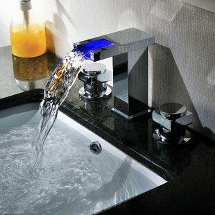 Widespread LED Waterfall Bathroom Sink Faucet BySumerain International Group