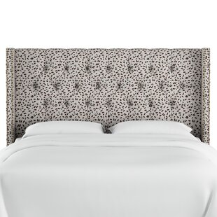 Best Choices Grays Ferry Diamond Tufted Neo Leo Upholstered Wingback Headboard by Wrought Studio