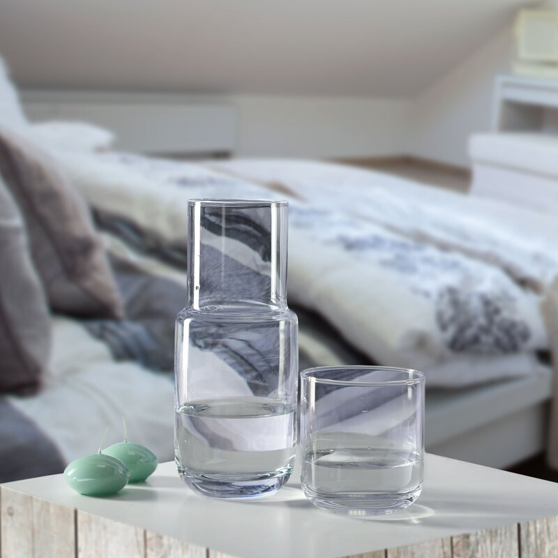 KROSNO Quench 2 Piece Bedside Water Carafe Set & Reviews
