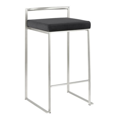 Fantastic Wade Logan Gary Bar Counter Stool Color Stainless Steel Evergreenethics Interior Chair Design Evergreenethicsorg