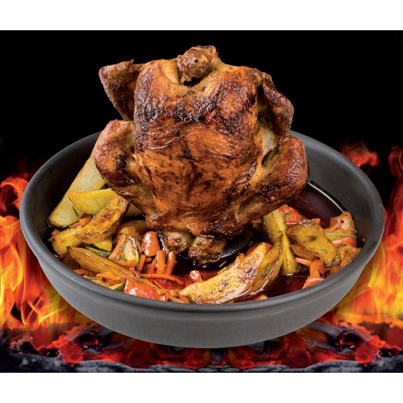 Fox Run Nonstick Vertical Chicken Turkey Duck Poultry BBQ Roaster Cooking Rack