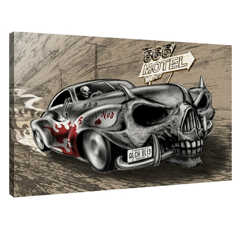 Epic Graffiti Deathrod Wrapped Canvas Graphic Art On Canvas Wayfair