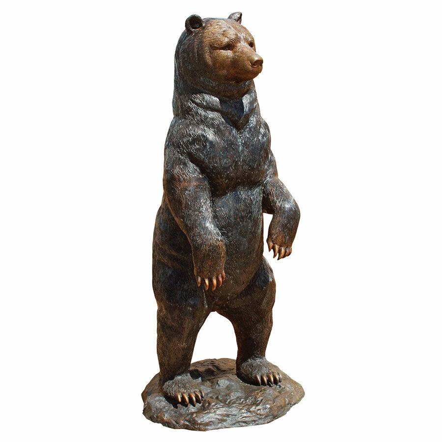 Charmant Design Toscano Standing Black Bear Garden Statue | Wayfair