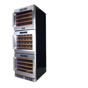 133 Bottle Professional Triple Zone Freestanding Wine Cellar