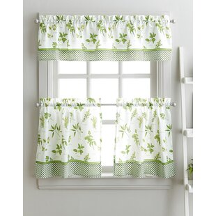 Cherelle Herb Graden Kitchen Curtains By August Grove