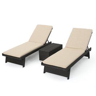Beech Hill 3 Piece Chaise Lounge Set