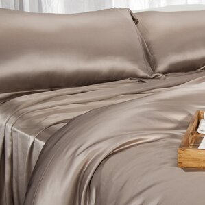 aus vio mulberry silk flat sheet