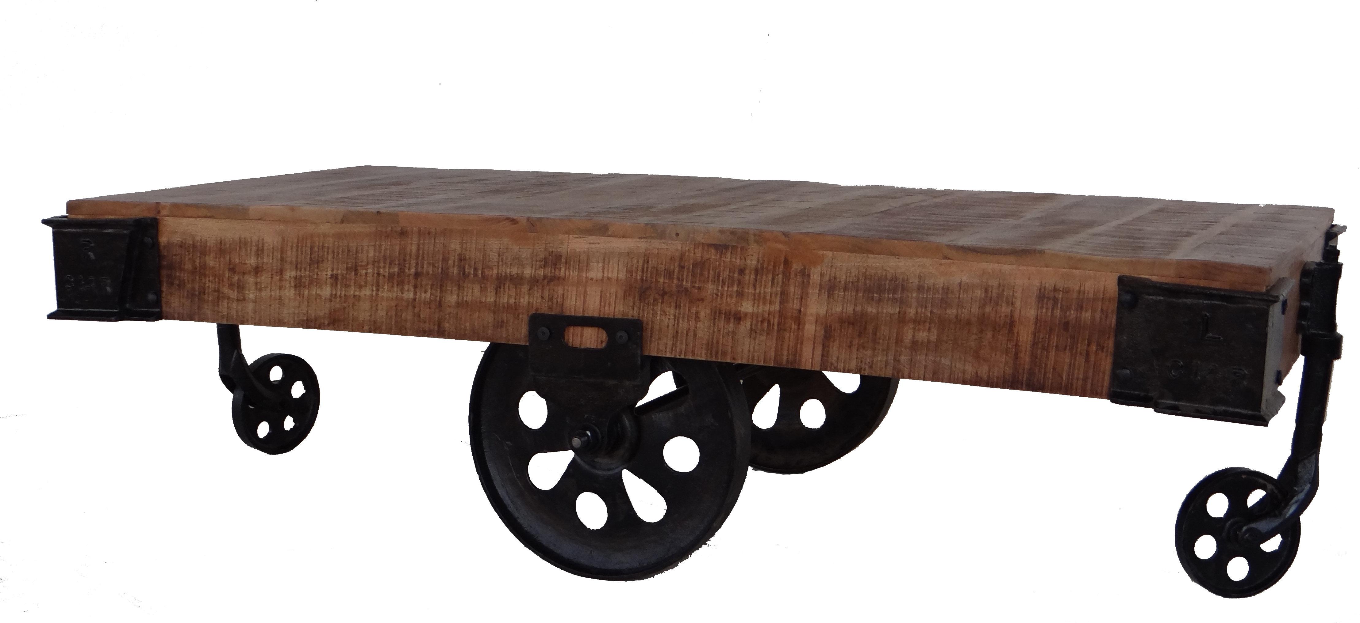 Industrial Cart Coffee Table | Wayfair