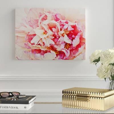 Kess InHouse Pellerina Design Watercolor Peony Pink Floral Table Runner
