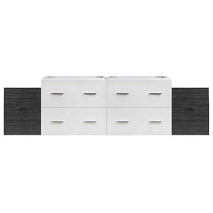 75 Double Bathroom Vanity Base Only by Royal Purple Bath Kitchen