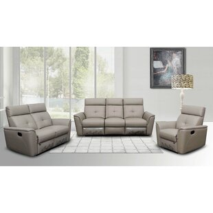 Reviews Fish Reclining Leather Configurable Living Room Set by Orren Ellis Reviews (2019) & Buyer's Guide