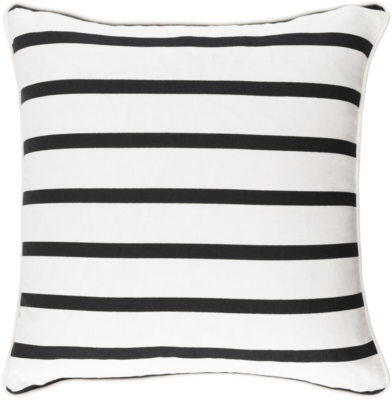 Carnell Mini Stripe Cotton Throw Pillow Cover