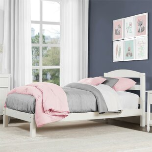 new style be649 d9f96 Girls White Twin Platform Bed | Wayfair