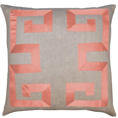 Linen Feathers Geometric Throw Pillow