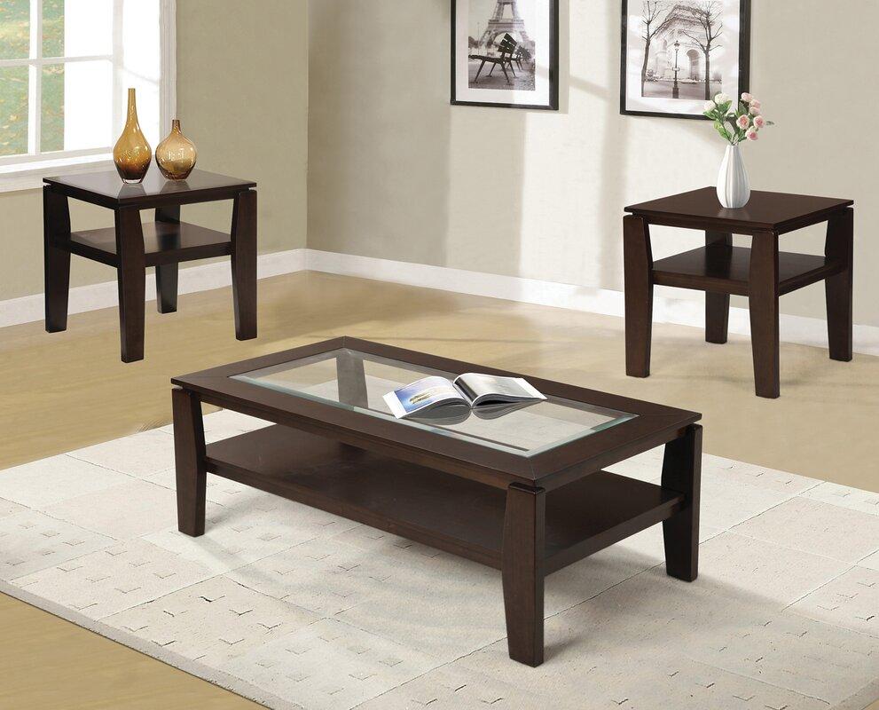 Red Barrel Studio Golder 3 Piece Coffee Table Set & Reviews | Wayfair