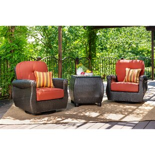 Breckenridge 3 Piece Rattan with Sunbrella Cushions