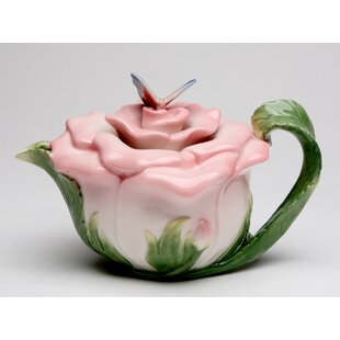 Kwon Butterfly on Rose 0.38-qt. Teapot