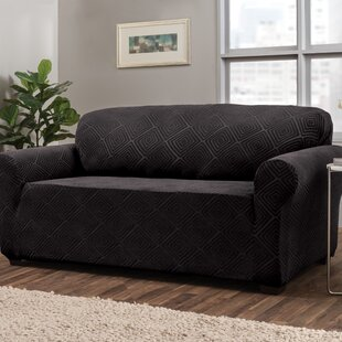 Diamond Box Cushion Sofa Slipcover by Symple Stuff Modern