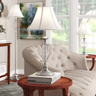 Shop For Mather 3 Piece Table and Floor Lamp Set By Alcott Hill