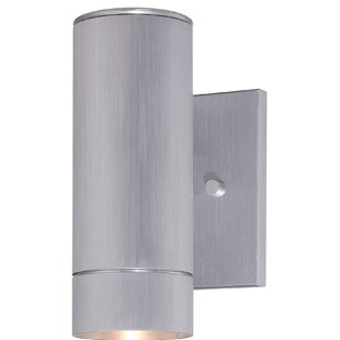 Compare prices Moonsu 1-Light Metal Shade Outdoor Sconce By Orren Ellis