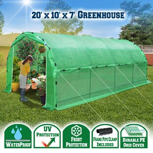 Large Portable Greenhouse Heavy Duty Walk In Outdoor Plant Gardening Hot  Green House With ABS Snap Clamp (20u0027 X10u0027 X 7u0027H)