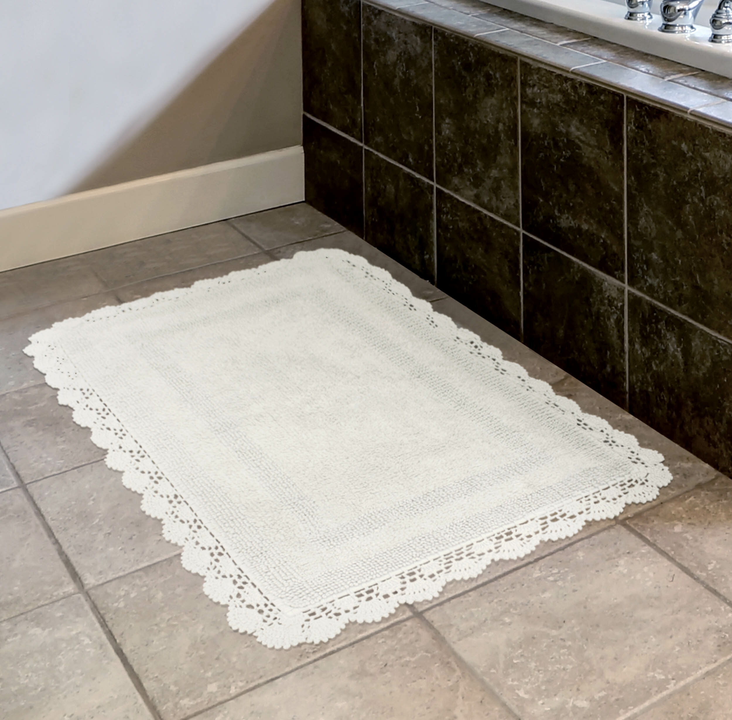 Laura Ashley Crochet Bath Rug Reviews Wayfair