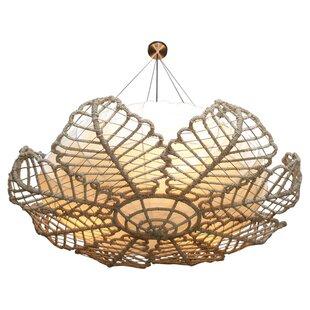 Rattan chandelier wayfair magnolia rattan chandelier aloadofball Image collections