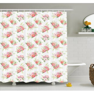 Nostalgic Elegance Themed Bunch of Magnolia Buds Rococo Poetic Fresh Nature Art Shower Curtain Set