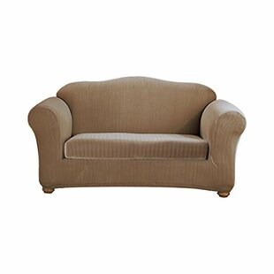 Today Sale Only Stretch Pinstripe Box Cushion Sofa Slipcover Sure Fit
