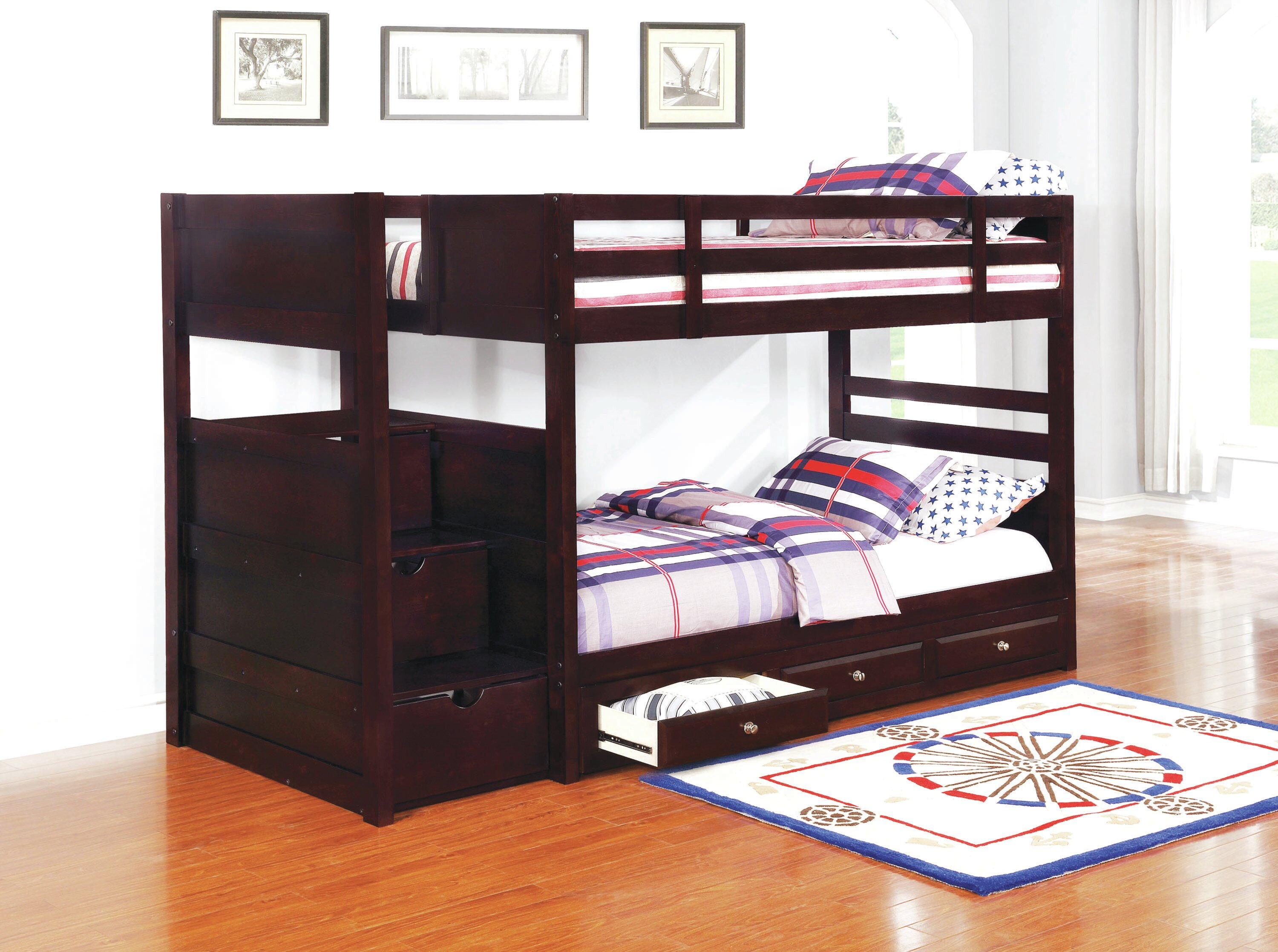 Image result for twin over twin bunk bed with storage