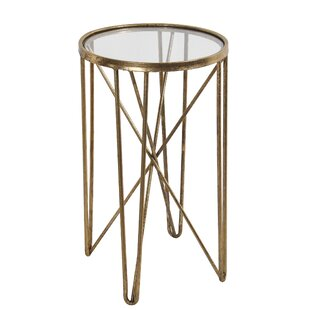Ayala Metal Round End Table