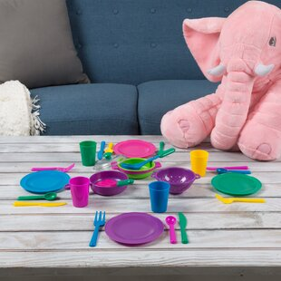 27 Piece Kids Play Dish/Tea Set by Hey! Play!