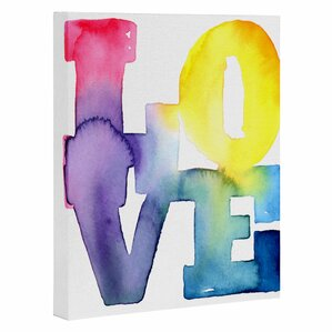 Love 4 by CMYKaren Textual Art on Wrapped Canvas