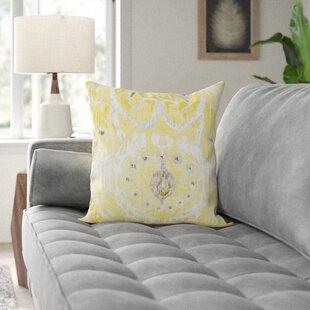 Clara Ikat 100% Cotton Throw Pillow
