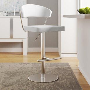 Rivka Adjustable Height Swivel Bar Stool Wade Logan
