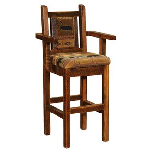 Online Reviews Barnwood 24 Bar Stool by Fireside Lodge Reviews (2019) & Buyer's Guide