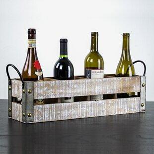 Leafwood 4 Bottle Tabletop Wine Rack