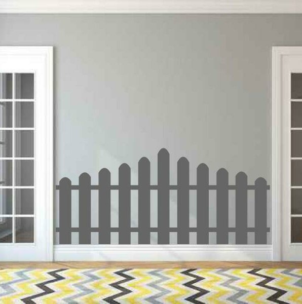 Picket Fence Faux Headboard Vinyl Wall