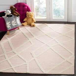 Reid Abstract Hand Tufted Pink Area Rug