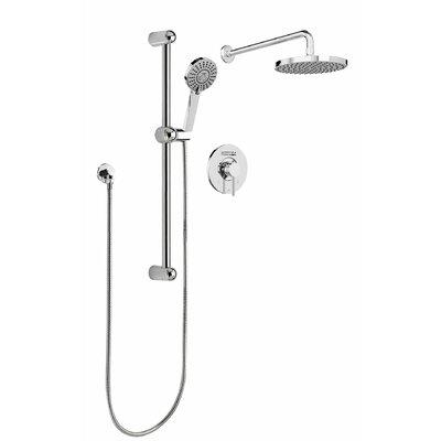 faucet shower head. Sleek Round Rain Faucet Pressure Balanced Dual Function Shower Head Complete System O
