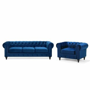 Russell 2 Piece Living Room Set by House of Hampton