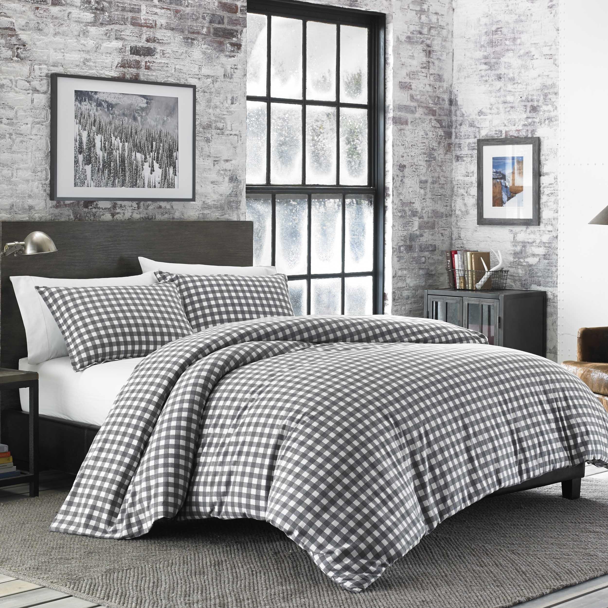 Ultra Soft Plush Cozy Reversible White Grey Flannel Comforter Set New Home Garden Bedding