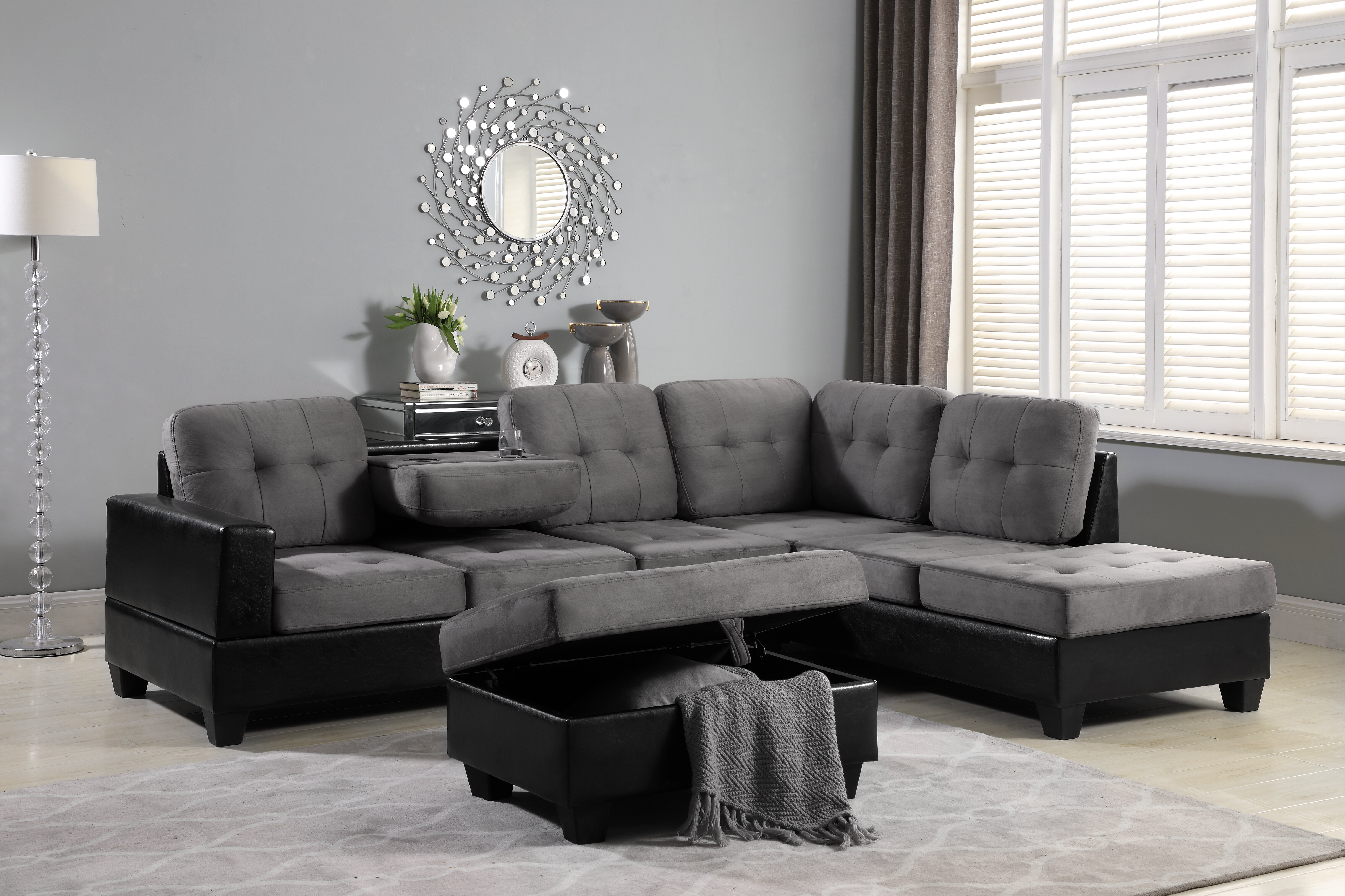 Terrific Hoehne Park Place Reversible Sectional With Ottoman Pabps2019 Chair Design Images Pabps2019Com